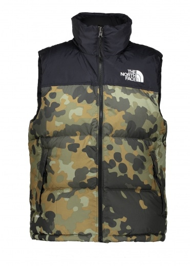 North Face 1996 Nuptse Vest - Camo