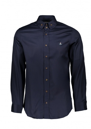 Vivienne Westwood Mens 2 Button Collar Shirt 524F - Navy