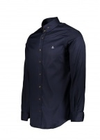 2 Button Collar Shirt 524F - Navy