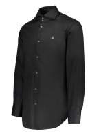 2 Button Collar Shirt - Black