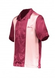 2 Tone Bowling Shirt - Burgundy