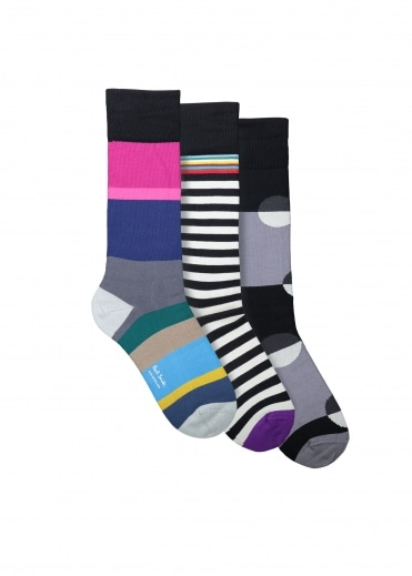 Paul Smith 3 Pack Assorted Socks - Assorted