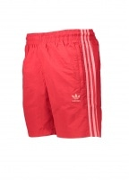adidas Originals Apparel 3 Stripes Swim Shorts - Scarlet