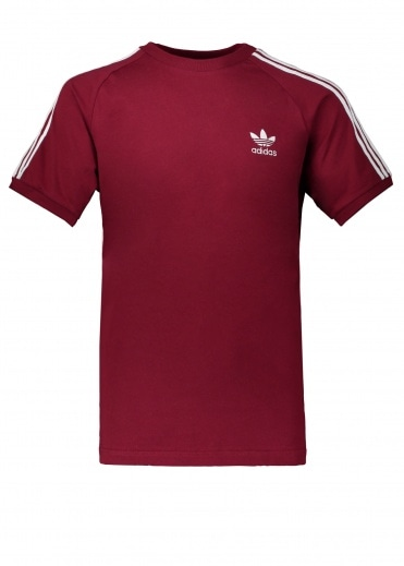 Adidas Originals Apparel 3-Stripes Tee - Burgundy