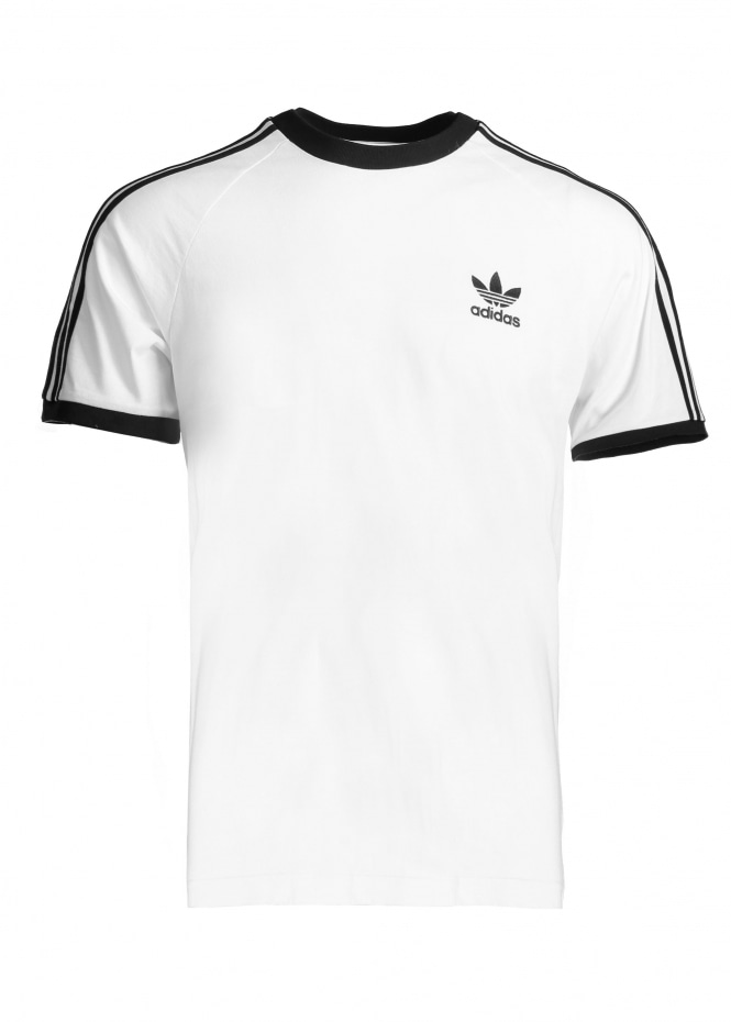 adidas Originals Apparel 3 Stripes Tee - White