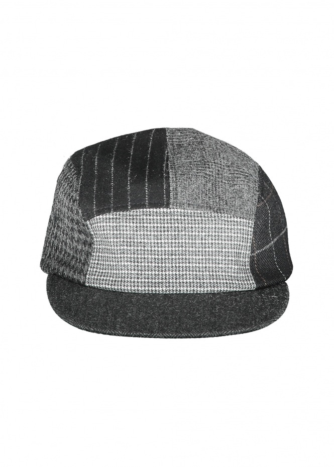 Beams Plus 5 Panel Cap Multi Pattern Blac