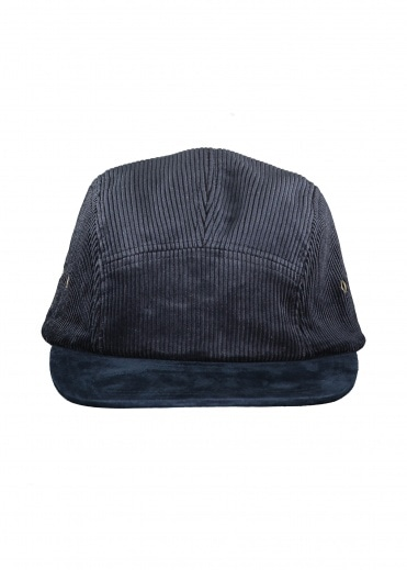 Beams Plus 5 Panel Cap Suede Corduroy - Navy