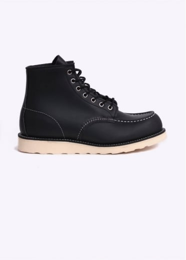 """Red Wing Shoes 6"""" Classic Moc Boots - Black"""