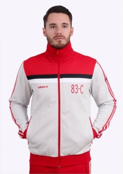 Adidas Originals Apparel 83-C Track Top - White / Red