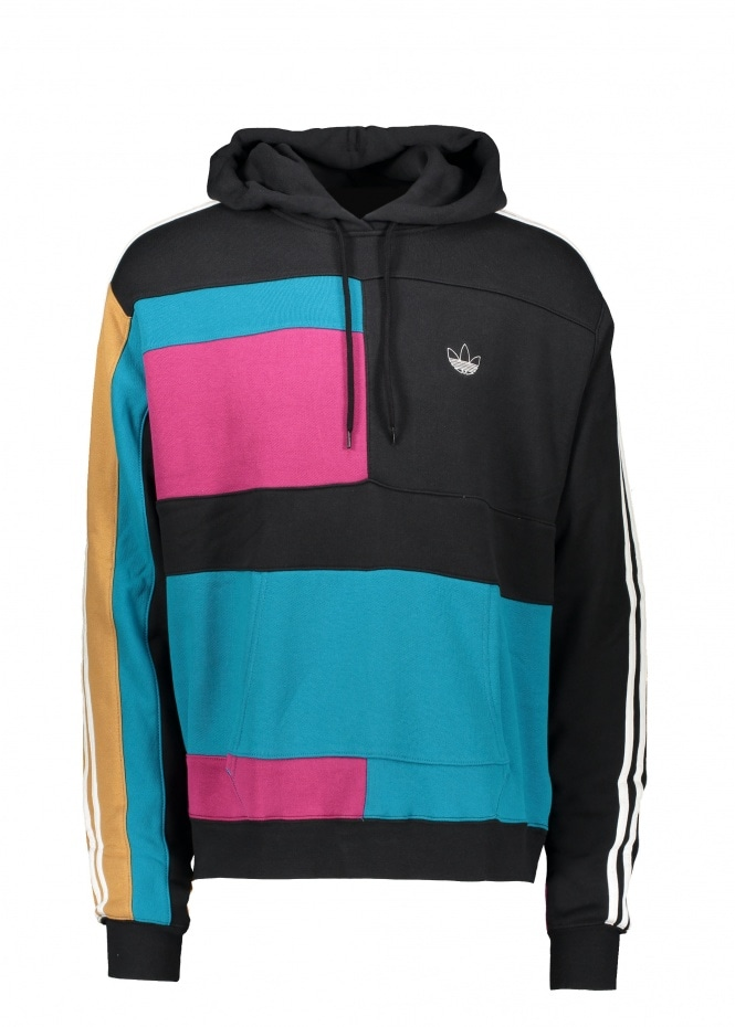 adidas Originals Apparel Asymm Block Hoody - Berry / Acttea