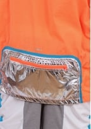 Adidas x Kolor Woven Jacket - Solar Orange / Aqua