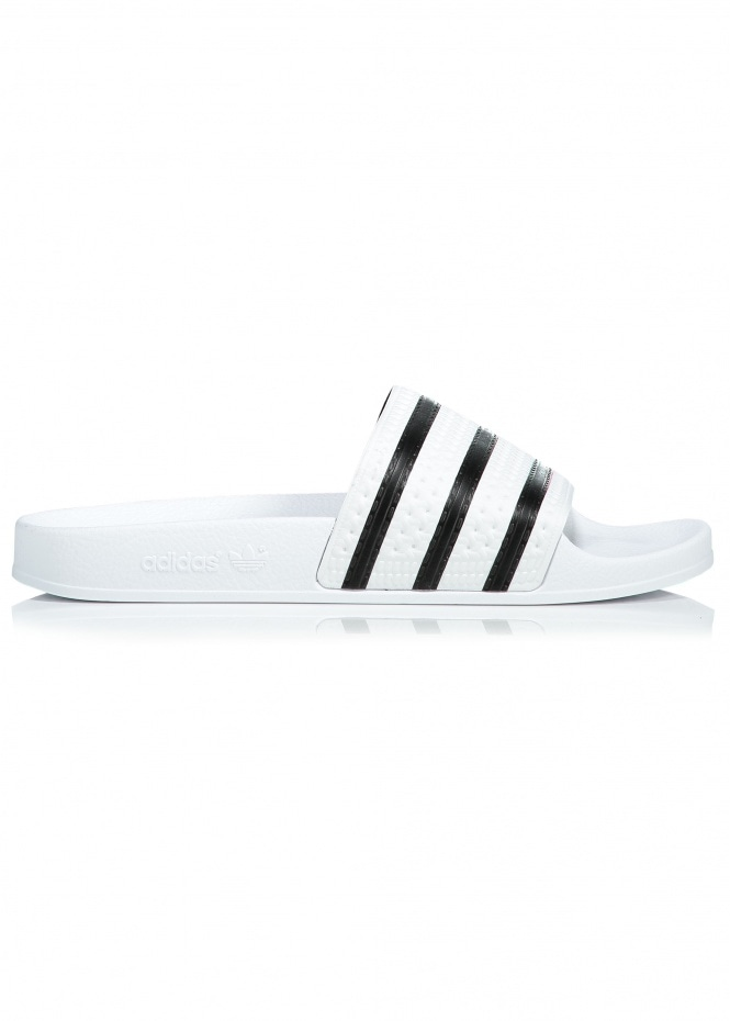 Adidas Originals Footwear Adilette Silde - White / Black