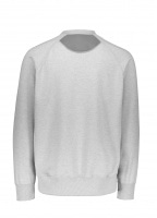 And Wander Aeroknot Pile Crew Neck - Grey