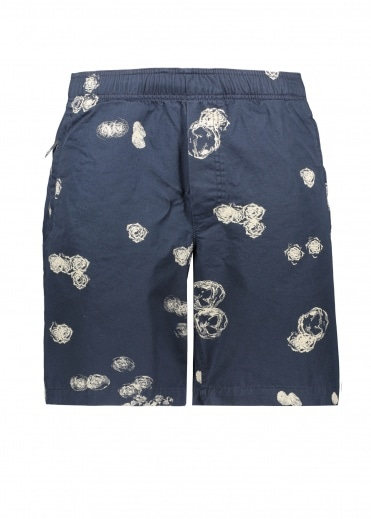 Wood Wood Alfred Graphic Shorts - Blue