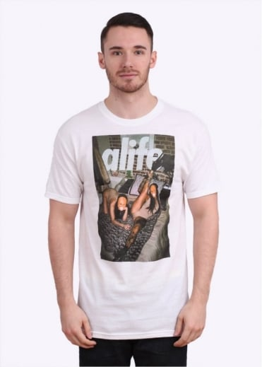 Alife x Pretty Puke Sleepover Tee - White