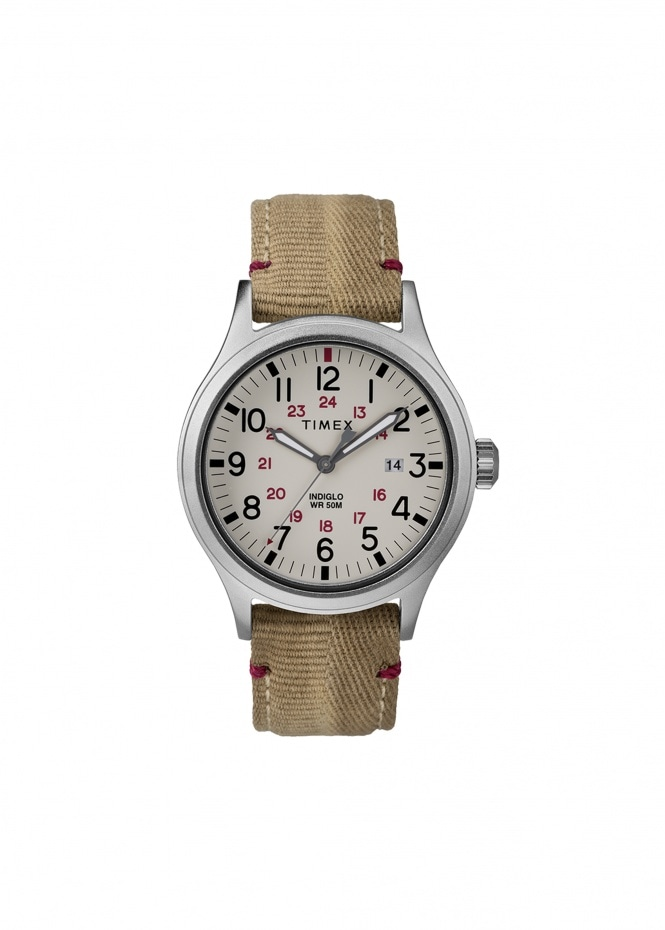 Allied 40mm Silver-Tone - Beige