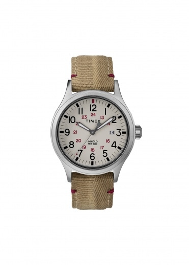 Timex Allied 40mm Silver-Tone - Beige