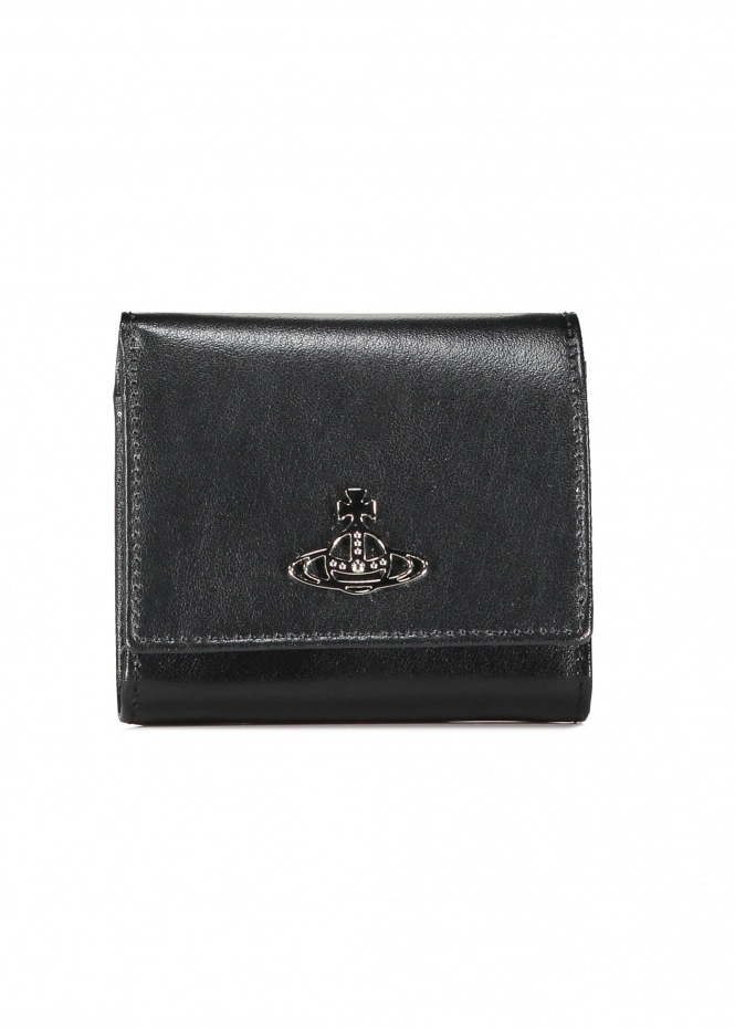 Anna Flap Coin Purse - Black