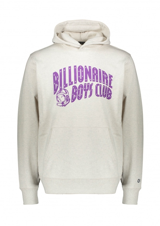 Billionaire Boys Club Arch Logo Pullover Hood - White Marl