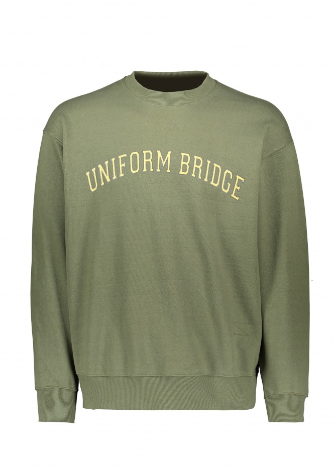 Uniform Bridge Arch Logo Sweat - Khaki