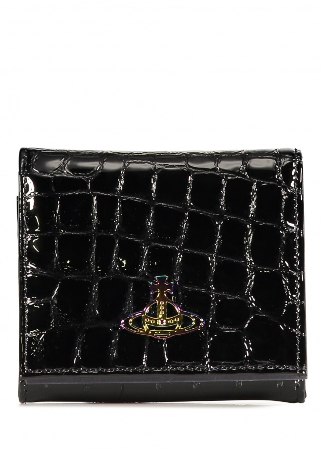 Archive Orb Flap Coin Wallet - Black