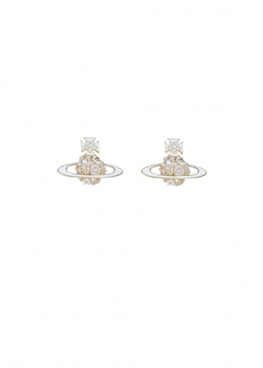 Vivienne Westwood Accessories Azalea Bas Relief Earrings - Gold