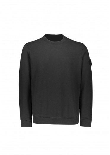 Stone Island Badge Sweatshirt - Black