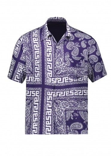 Aries Bandana Print Hawaiian Shirt - Navy