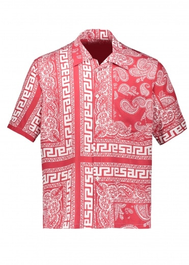 Aries Bandana Print Hawaiian Shirt - Red