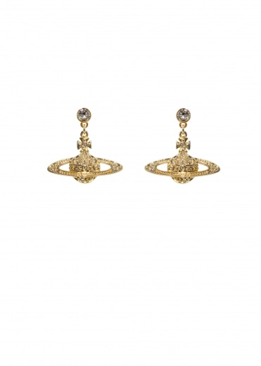Vivienne Westwood Accessories Bas Relief Drop Earrings - Gold