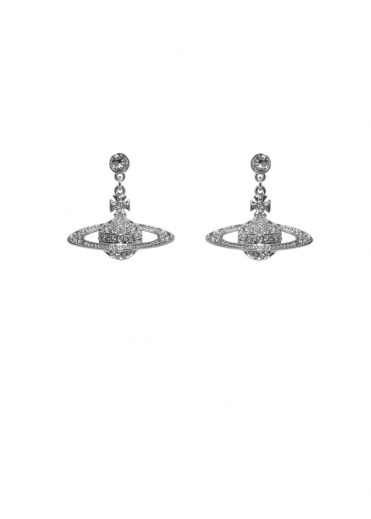 Vivienne Westwood Accessories Bas Relief Drop Earrings - Rhodium