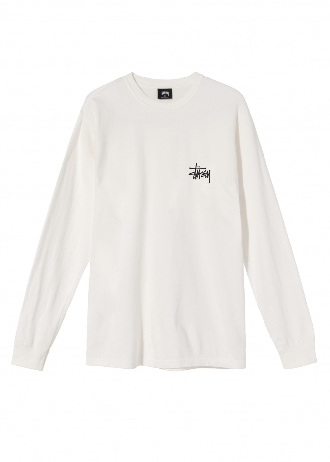 Basic Stussy Pig. Dyed LS Tee - Natural