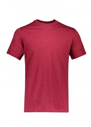 Adidas Originals Apparel BF AOP Tee - Burgundy