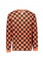Billionaire Boys Club Space Check LS Tee - Orange