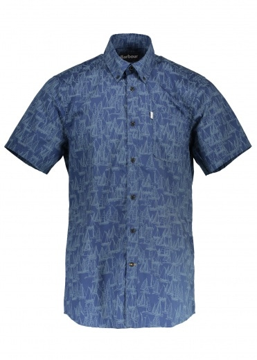 Barbour Boat SS Shirt - Inky Blue