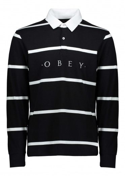 Obey Bridgewater Polo LS - Black