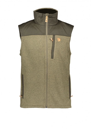 Buck Fleece Vest - Laurel Green