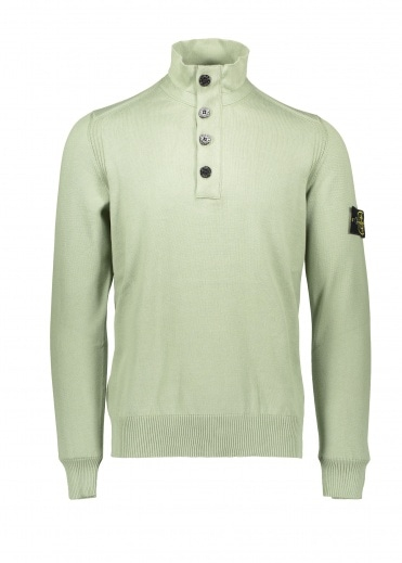 Stone Island Button Up Knit - Sage