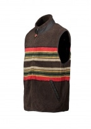 Pendleton Camp Stripe Fleece Vest - Brown