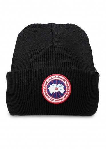 Canada Goose Arctic Disc Toque Hat - Black