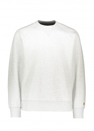 Carhartt Chase Sweat - Ash Heather / Gold