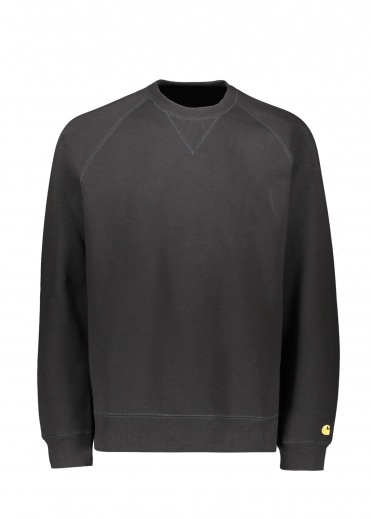 Carhartt Chase Sweat - Black / Gold