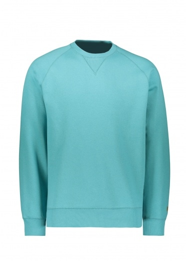 Carhartt Chase Sweat - Frosted Turquoise