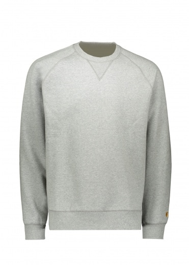 Carhartt Chase Sweat - Grey Heather / Gold