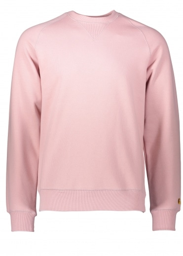 Carhartt Chase Sweat - Soft Rose / Gold