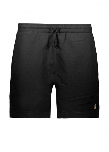 Carhartt Chase Swim Shorts - Black / Gold