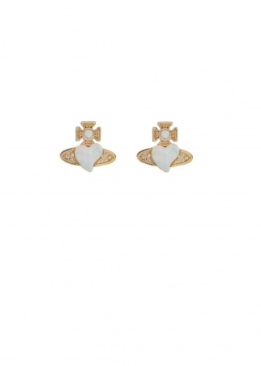 Vivienne Westwood Accessories Cissy Earrings - Gold / White