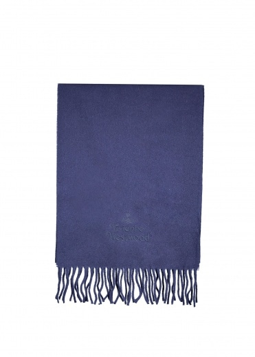 Vivienne Westwood Mens Classic Scarf - Navy Blue
