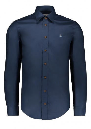 Vivienne Westwood Mens Classic Stretch Shirt - Dark Blue