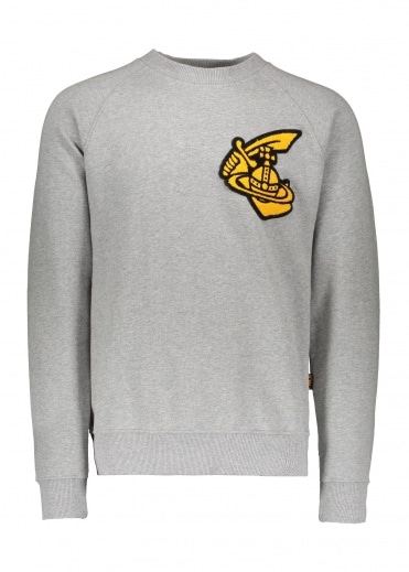 Vivienne Westwood Mens Classic Sweatshirt Patch - Grey
